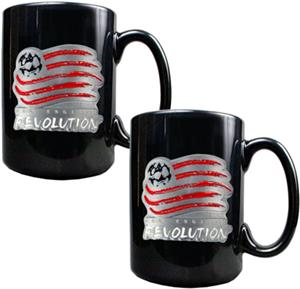 MLS New England Revolution Ceramic Mug Set of 2