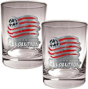 MLS New England Revolution Rocks Glass Set of 2