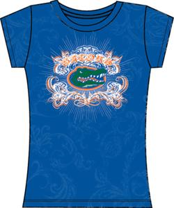 Florida Gators Womens Metallic Foil Image Tee