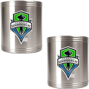 MLS Seattle Sounders Stainless Can Holders
