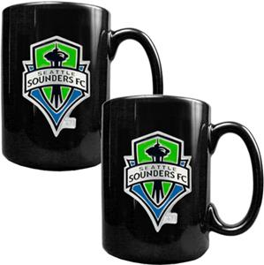 MLS Seattle Sounders Ceramic Mug Set of 2