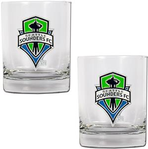 MLS Seattle Sounders Rocks Glass Set of 2