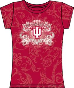 Indiana Univ Womens Metallic Foil Image Tee