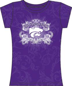 Kansas State Womens Metallic Foil Image Tee