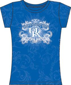 Kentucky Wildcats Womens Metallic Foil Image Tee