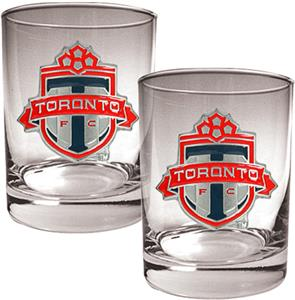 MLS Toronto FC Rocks Glass Set of 2