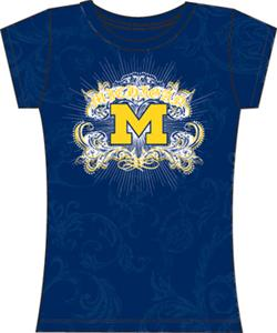 Michigan Womens Metallic Foil Image Tee