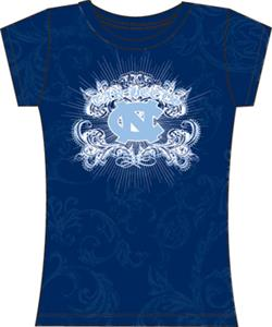 North Carolina Womens Metallic Foil Image Tee