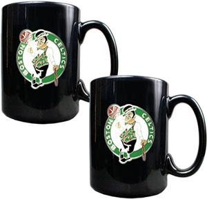NBA Boston Celtics Black Ceramic Mug (Set of 2)