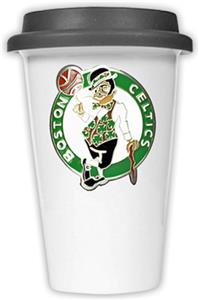NBA Boston Celtics Ceramic Cup with Black Lid