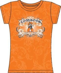 Oklahoma State Womens Metallic Foil Image Tee
