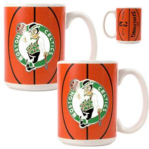 NBA Boston Celtics Gameball Mug (Set of 2)