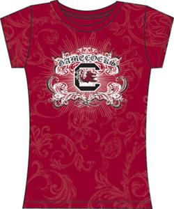 South Carolina Womens Metallic Foil Image Tee