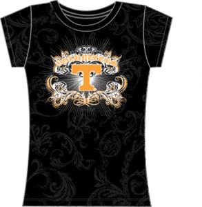 Tennessee Womens Metallic Foil Image Tee