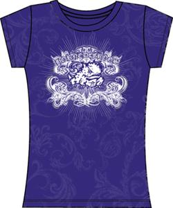 Texas Christian TCU Womens Metallic Foil Image Tee