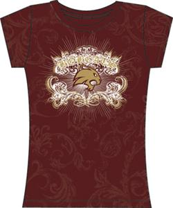 Texas State Womens Metallic Foil Image Tee