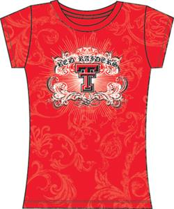 Texas Tech Womens Metallic Foil Image Tee