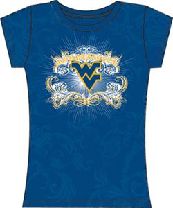 West Virginia Womens Metallic Foil Image Tee