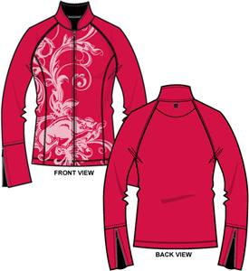 Arkansas Razorbacks Womens Premier Yoga Fit Jacket