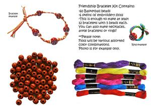 Basketball Bead Friendship Bracelet Kits