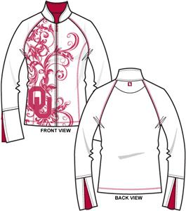 Oklahoma Sooners Womens Premier Yoga Fit Jacket