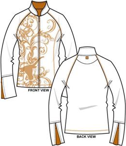 Texas Longhorns Womens Premier Yoga Fit Jacket