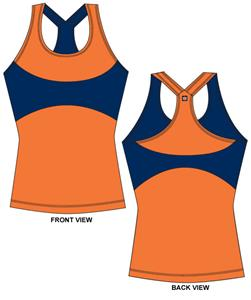 Auburn Tigers Womens Yoga Fit Tank Top