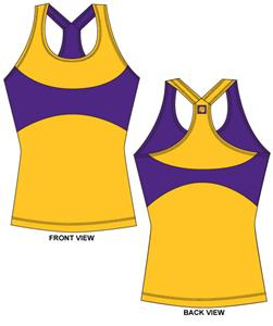 LSU Tigers Womens Yoga Fit Tank Top