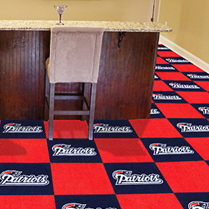 Fan Mats NFL New England Patriots Carpet Tiles
