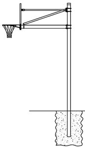 Gared AABS60 FM Straight Basketball Goal Posts