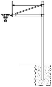 Gared AABS65 FM Straight Basketball Goal Posts