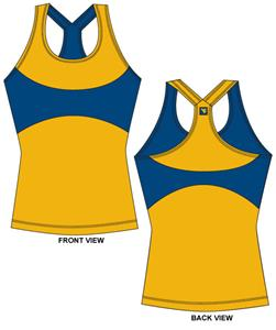 West Virginia Womens Yoga Fit Tank Top