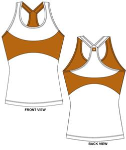 Texas Longhorns Womens Yoga Fit Tank Top