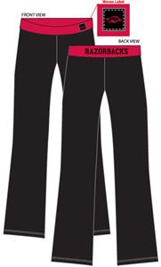 Arkansas Razorbacks Womens Fit Yoga Pants