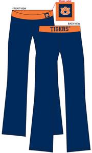 Auburn Tigers Womens Fit Yoga Pants