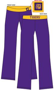 LSU Tigers Womens Fit Yoga Pants