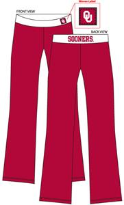 Oklahoma Sooners Womens Fit Yoga Pants