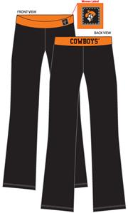 Oklahoma State Womens Fit Yoga Pants