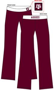 Texas A&amp;M Aggies Womens Fit Yoga Pants