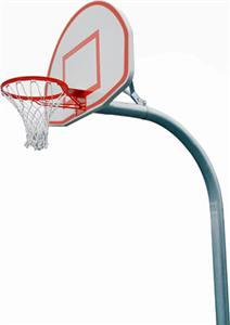 PK4565 Standard Gooseneck Basketball Goal Package