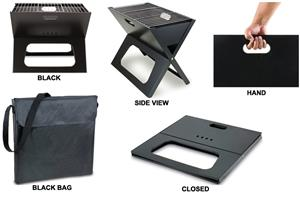 Picnic Time Portable Charcoal X-Grill with Tote