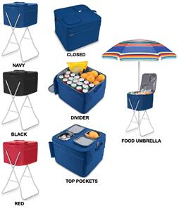 Picnic Time Insulated Party Cube Cooler with Stand