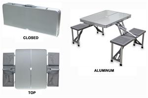 Picnic Time Folding Aluminum Picnic Table