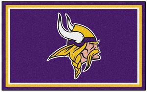 Fan Mats NFL Minnesota Vikings 4x6 Rug