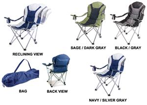 Picnic Time Foldable Reclining Camp Chair