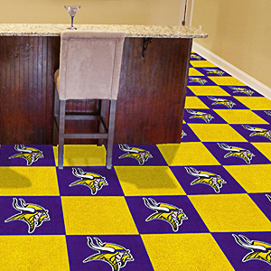 Fan Mats NFL Minnesota Vikings Carpet Tiles