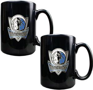 NBA Dallas Mavericks Black Ceramic Mug (Set of 2)