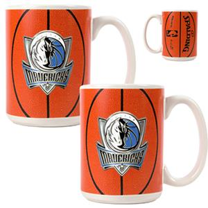 NBA Dallas Mavericks Gameball Mug (Set of 2)