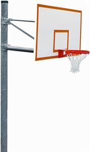 PK6051 Heavy-Duty Straight Basketball Goal Package
