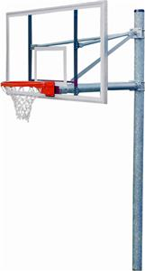 PK6091 Heavy-Duty Straight Basketball Goal Package